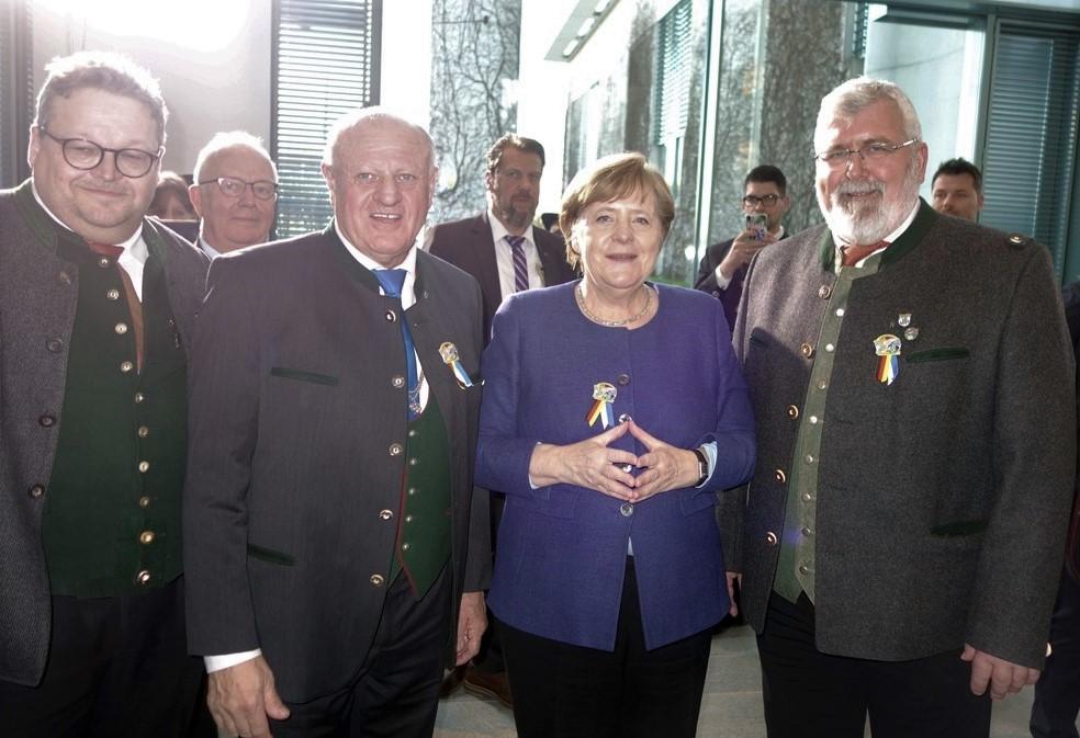 <p>Besuch bei der Bundeskanzlerin in Berlin</p>